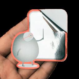 金屬光澤貼紙 Mirror stickers、亮銀龍貼紙、反銀龍貼紙、百變怪貼紙StickerHD、防水貼紙